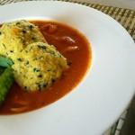 Italian Chicken Soup with Polenta Herb Dumplings